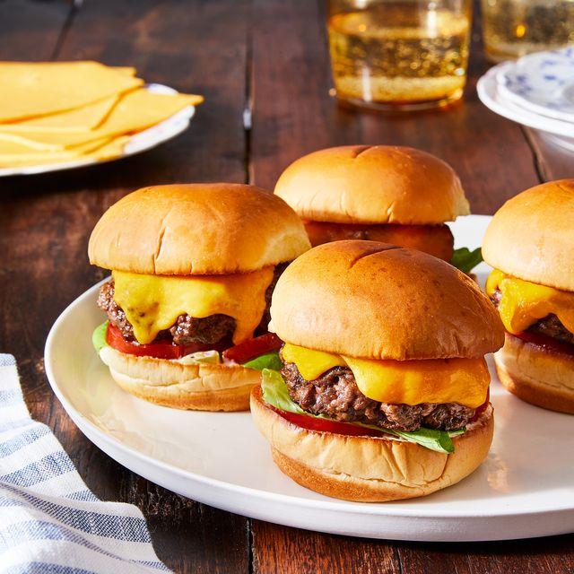 cheesy smash burgers