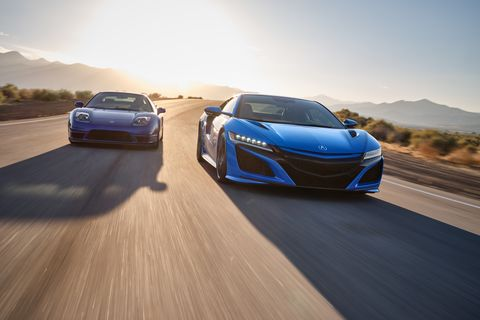 2021 acura nsx in long beach blue pearl