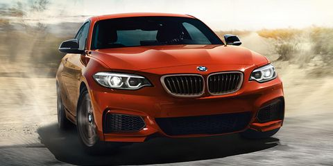 2021 bmw 2 series coue front