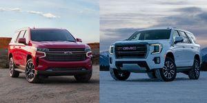 2021 Chevy Tahoe and 2021 GMC Yukon
