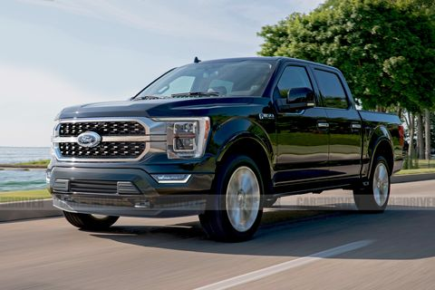 2021 ford f 150 artist's rendering