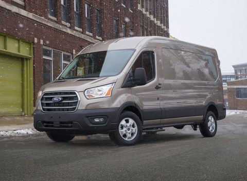 2021 ford transit front