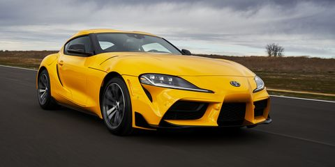 a yellow 2021 toyota gr supra 20