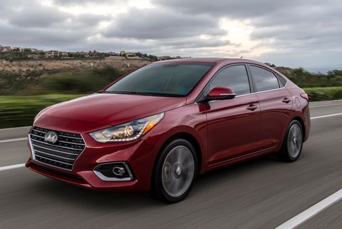 2021 hyundai accent front