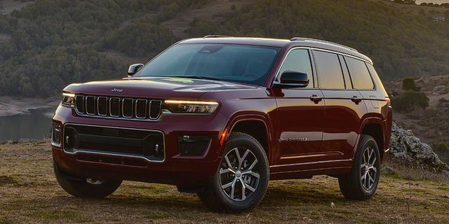 2021 jeep grand cherokee l overland front