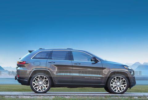 2021 jeep grand cherokee artist's rendering