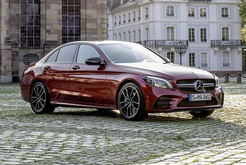 2021 mercedes amg c43 front