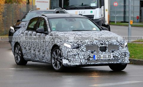 2021 Mercedes C-Class (spy photo)