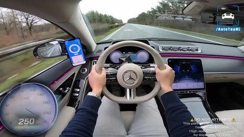 mercedes clase s 2021   cámara on board   acelera en autobahn
