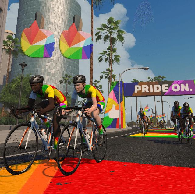 zwift pride on lgbtqia pride rides