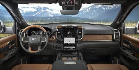 2021 ram heavy duty laramie longhorn interior