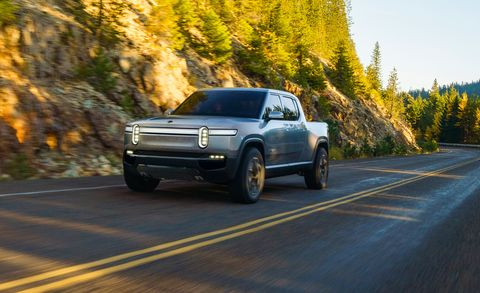 2021 rivian r1t pickup truck
