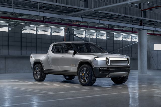 2021 rivian r1t front