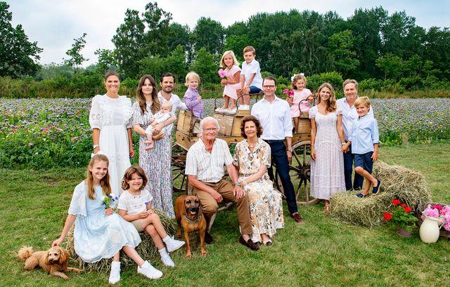 スウェーデン 王室 ポートレート 家族 一家