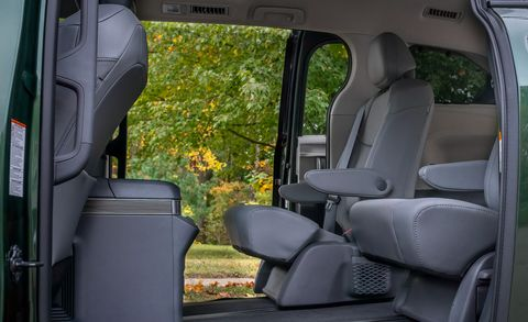 2021 toyota sienna sliding seats