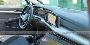 2021 Volkswagen Golf Mark 8 interior spy photo
