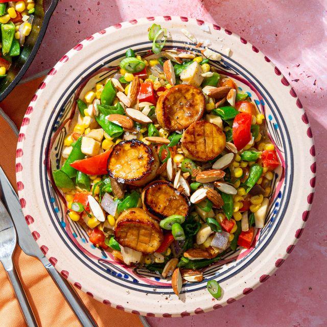 seared scallops corn succotash