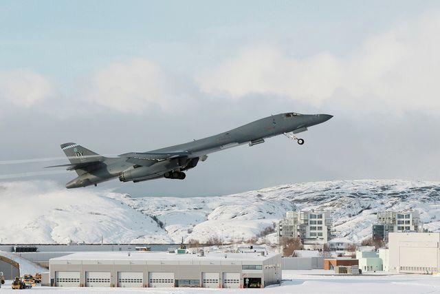 b1 bomber, arctic, bodø