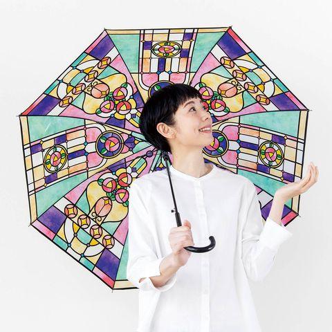 下雨天最浪漫復古的存在!日本雜貨品牌「youmore 」推出大正羅馬風格彩繪玻璃傘仙氣十足