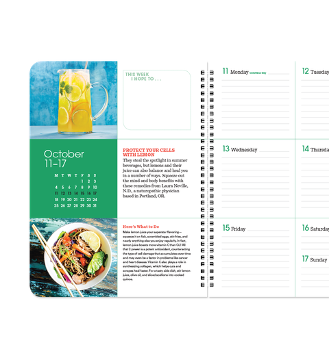 prevention's 2021 calendar and health planner