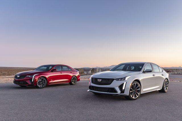 during the 2021 rolex 24 at daytona, cadillac shared a sneak peek of the 2022 ct4 v blackwing left and ct5 v blackwing right