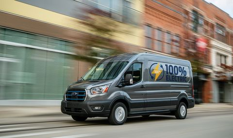 2022 ford e transit side
