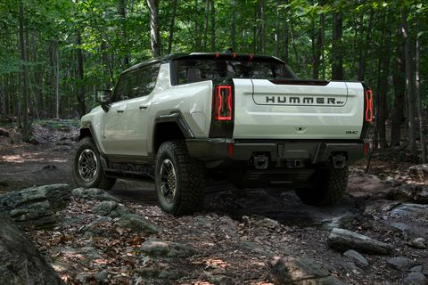 the gmc hummer ev is designed to be an off road beast, with all new features developed to conquer virtually any obstacle or terrain