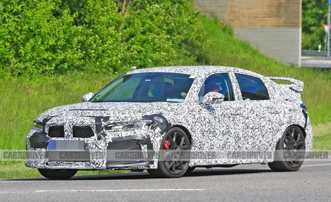 2022 honda civic type r spied