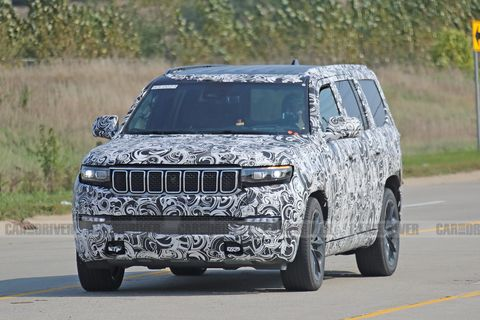 2022 jeep grand wagoneer spied