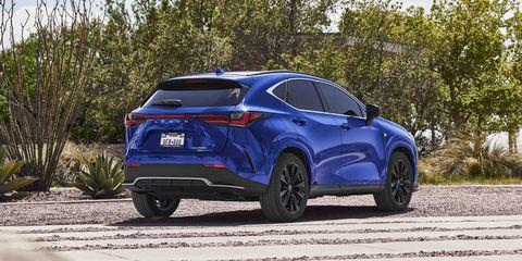 2022 lexus nx450h fsport rear