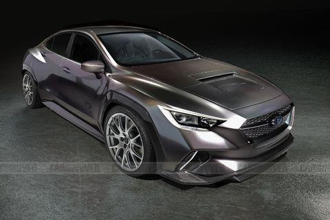 2022 Subaru WRX STI rendering