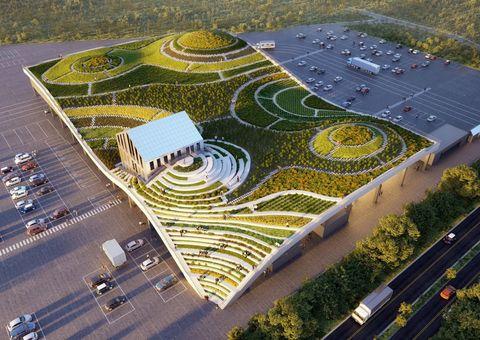 全台最美菜市場9月啟用!「台南新化果菜市場」梯田造型、山丘起伏外觀,觀景台屋頂還能種菜