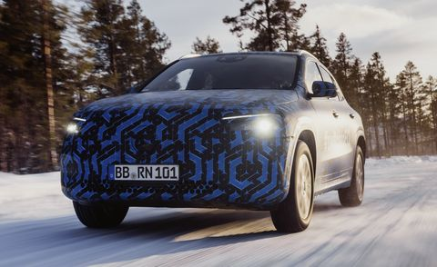 the compacts are turning electric the eqa in winter testing and new plug in hybrids at the geneva motor show