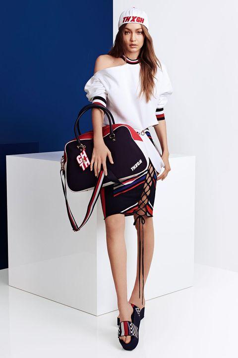 Fashion model, Clothing, White, Fashion, Shoulder, Runway, Waist, Joint, Fashion show, Fashion design,