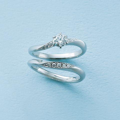 ラザール ダイヤモンド「クーパーズ」エンゲージリングと「オーチャード」マリッジリング