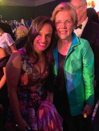 alexis mcgill johnson with senator elizabeth warren, 2019
