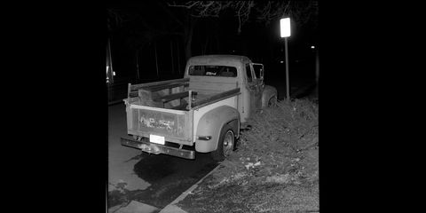 1953 ford f100 photographed with 1950 kodak brownie hawkeye flash camera