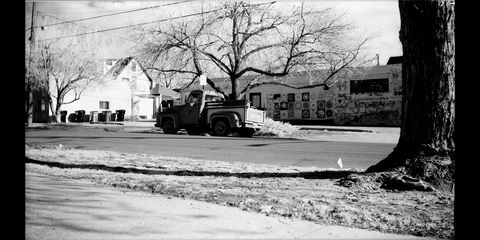 1953 ford f100 photographed with 1911 kodak and infrared film