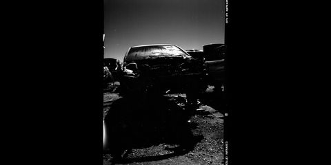 junkyard photography with infrared film