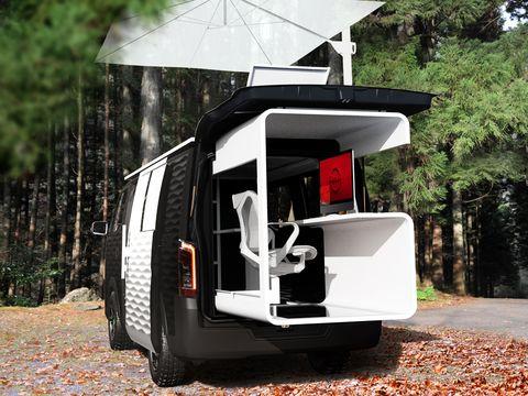nissan camper van business office mobile