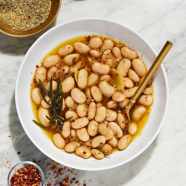 lemon herb marinated beans