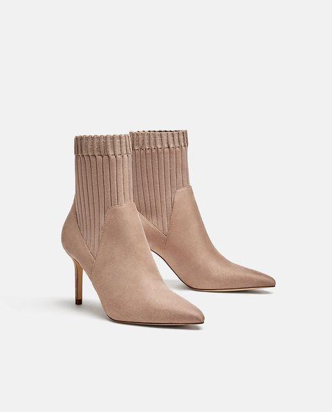 Footwear, Shoe, Boot, Beige, Leather, Tan, Brown, Suede, High heels,