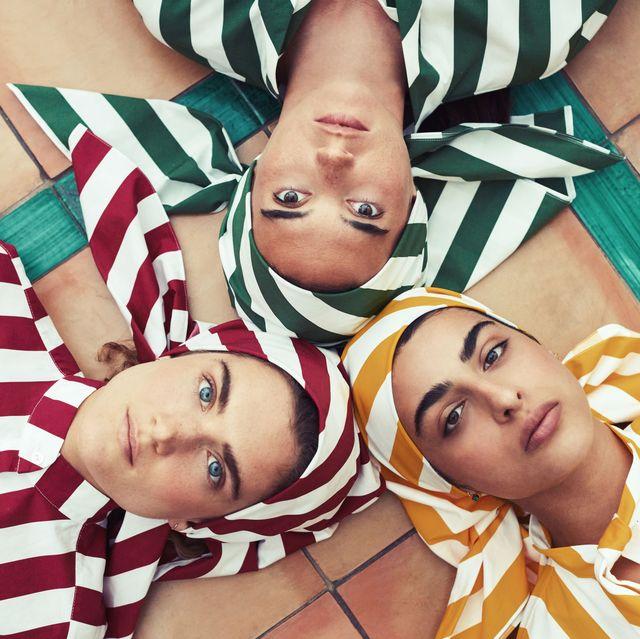 emporio sireneuse emilia wickstead positano collaboration swimwear stripes caftan bikini italy