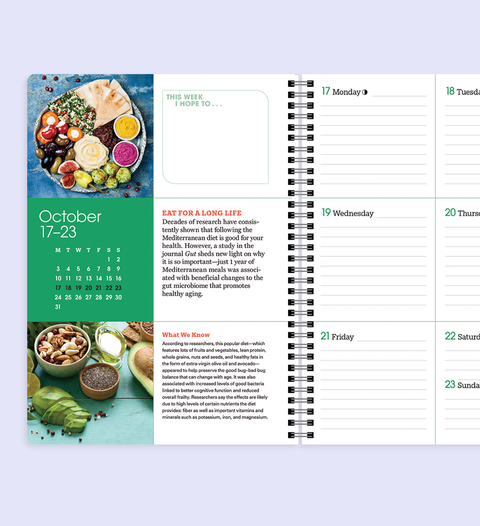 prevention's 2022 calendar and health planner