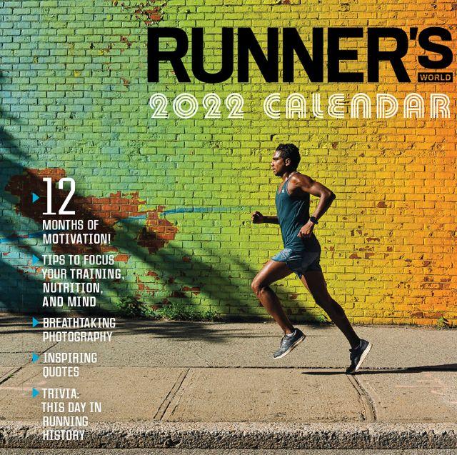 2022 runner's world wall calendar