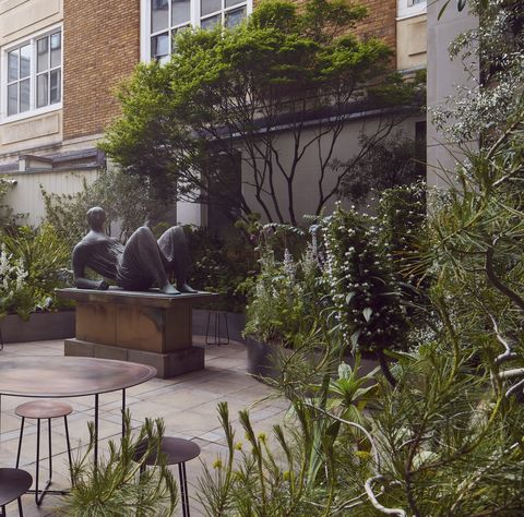 hermes, new bond street, garden terrace, 2021