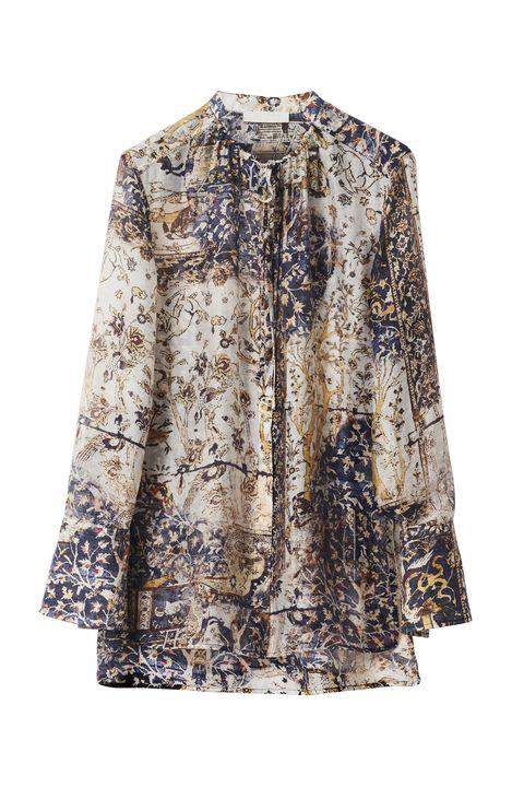 Clothing, Sleeve, Outerwear, Blouse, Beige, Dress, Top, Shirt, Neck, Collar,