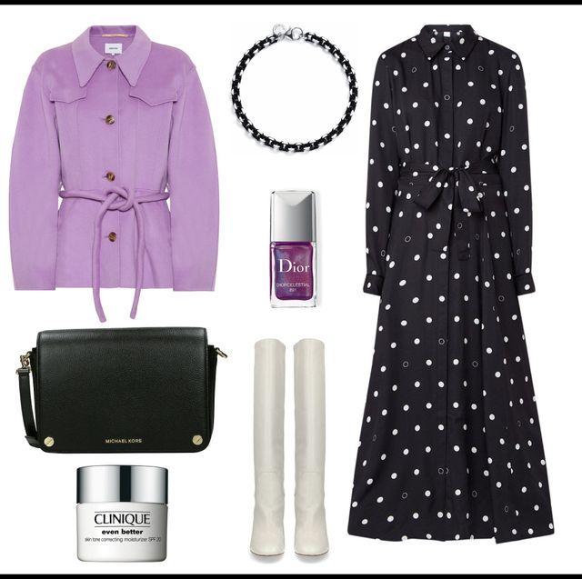 Clothing, Dress, Pattern, Design, Material property, Room, Polka dot, Little black dress, Style, Dress shirt,