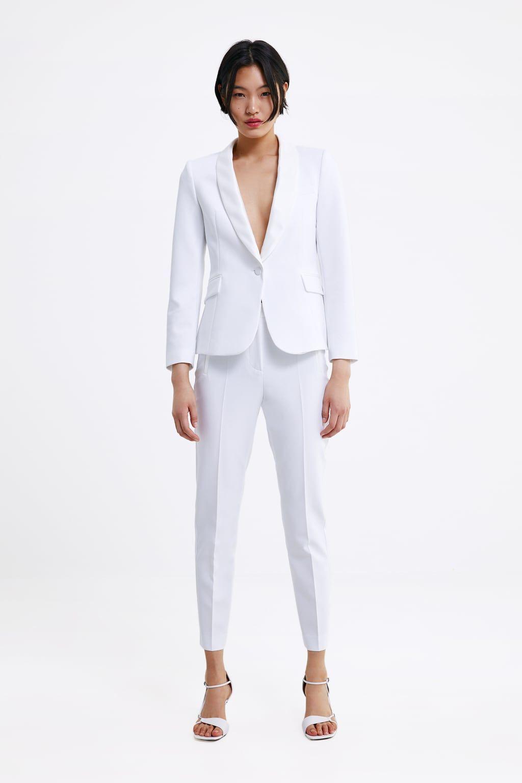 Moda Zara Blanco Tiene Traje El Pone De Carbonero Sara Y AR5L34jq
