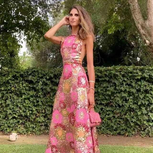 ines domecq con vestido de invitada de boda